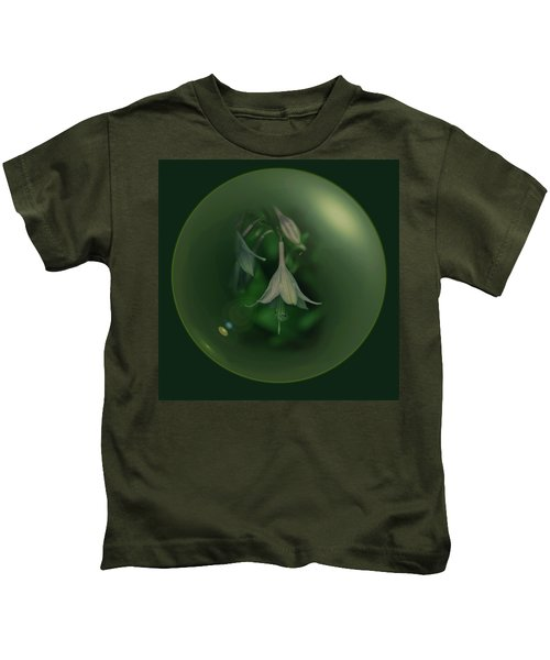 Green Orb Flower Kids T-Shirt