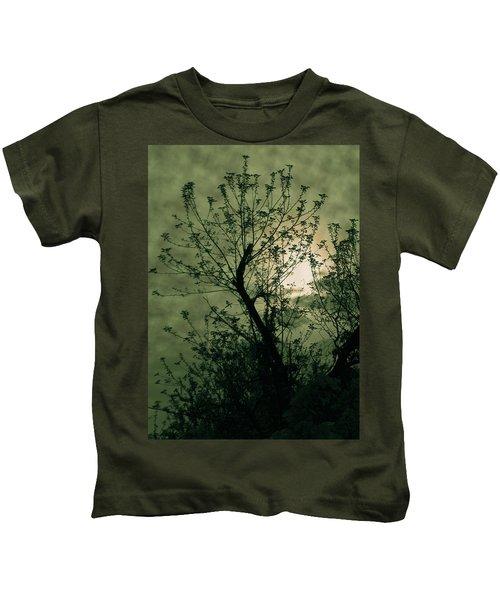 Green Sunset Kids T-Shirt