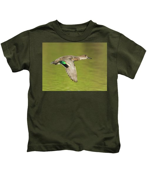 Green-winged Teal 6320-100217-2cr Kids T-Shirt