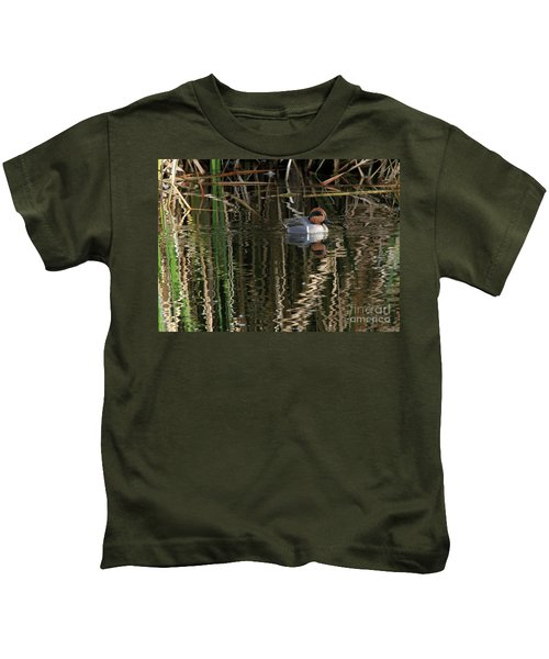 Green Winged Teal  Kids T-Shirt