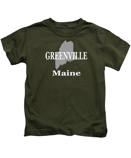 Greenville Maine State City And Town Pride  Kids T-Shirt