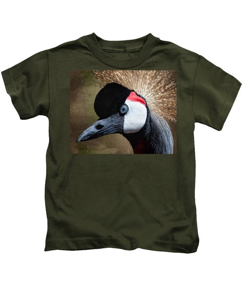 Grey - Crowned Crane Kids T-Shirt