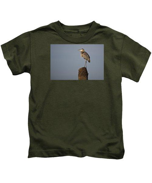 Grey Heron Kids T-Shirt