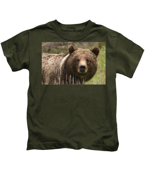 Grizzly Portrait Kids T-Shirt