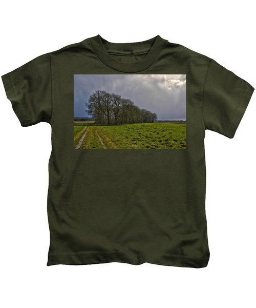 Group Of Trees Against A Dark Sky Kids T-Shirt