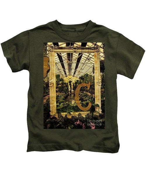 Grungy Melbourne Australia Alphabet Series Letter Kids T-Shirt