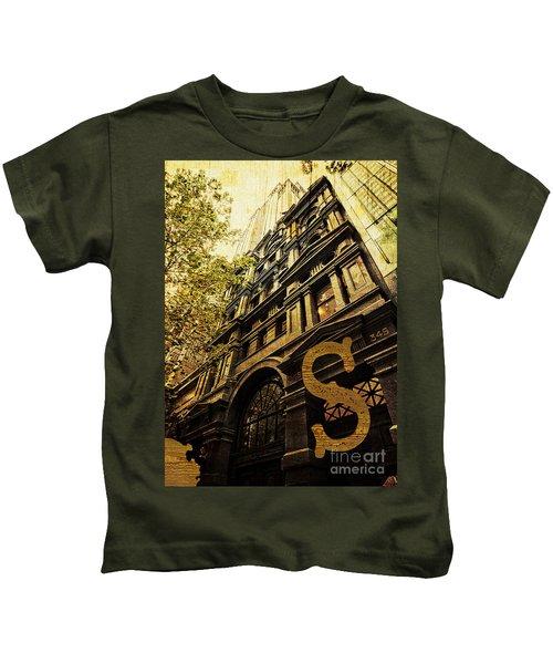 Grungy Melbourne Australia Alphabet Series Letter S Collins Stre Kids T-Shirt