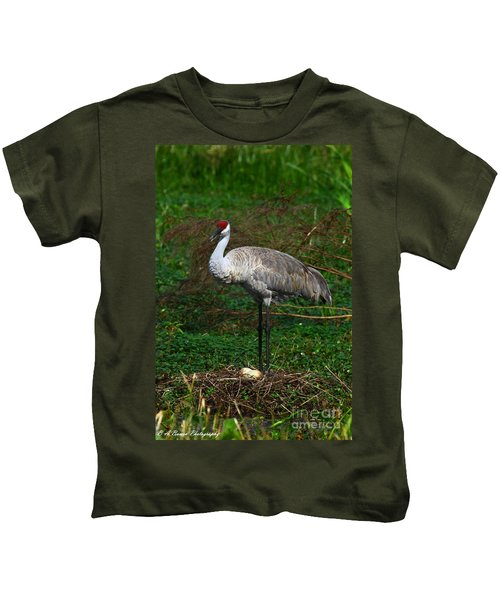 Guarding The Nest Kids T-Shirt