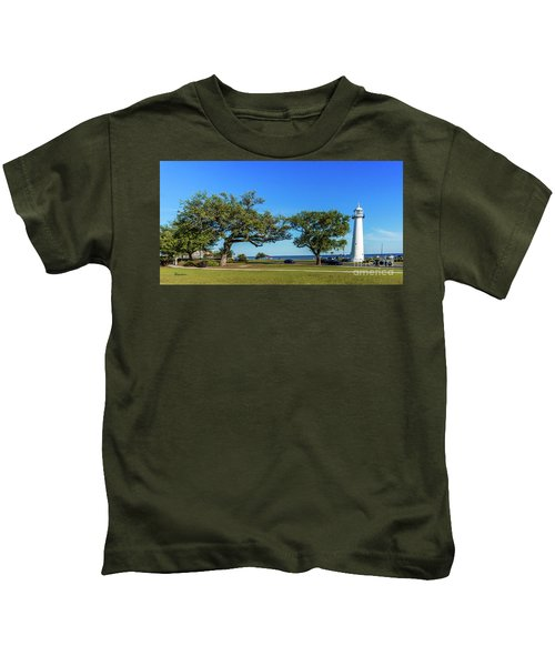 Gulf Coast Lighthouse Seascape Biloxi Ms 3663b Kids T-Shirt