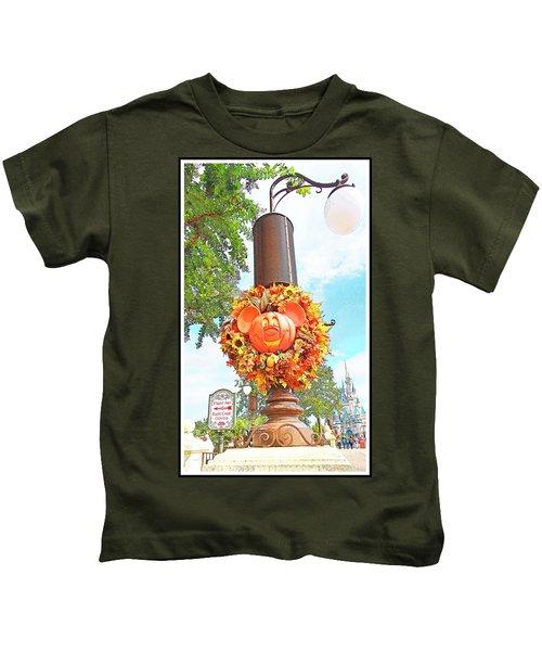 Halloween In Walt Disney World Kids T-Shirt