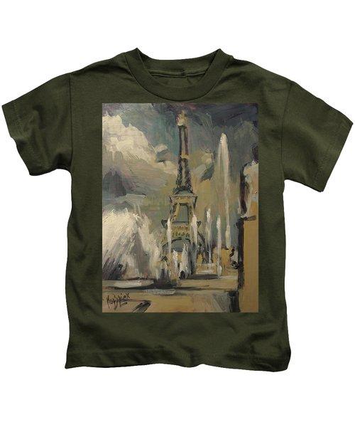 Happy Fountains At Trocadero Kids T-Shirt