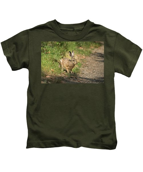 Hare In The Woods Kids T-Shirt