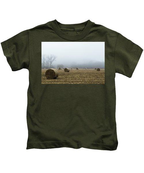 Hay Bales In A Field Kids T-Shirt