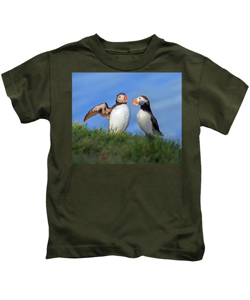He Went That Way Kids T-Shirt by Betsy Knapp