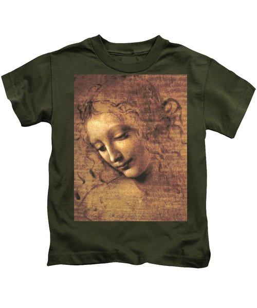 Head Of A Woman Kids T-Shirt