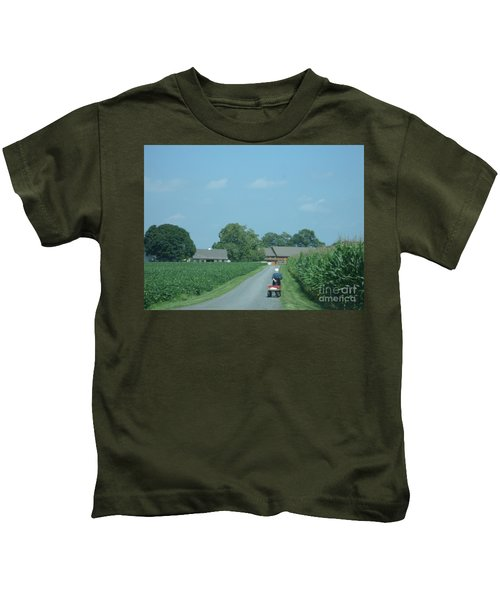 Heading Home From The Market Kids T-Shirt