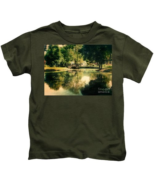 Heckscher Park Pond, Huntington Ny Kids T-Shirt