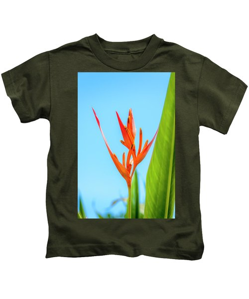 Heliconia Flower Kids T-Shirt