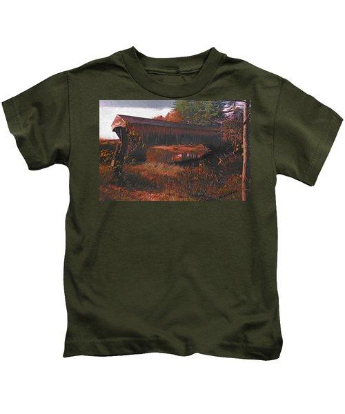 Hemlock Covered Bridge Kids T-Shirt