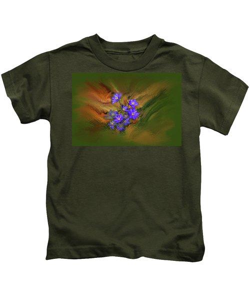 Hepatica Nobilis Painterly #h4 Kids T-Shirt