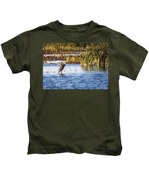 Heron - Horicon Marsh - Wisconsin Kids T-Shirt