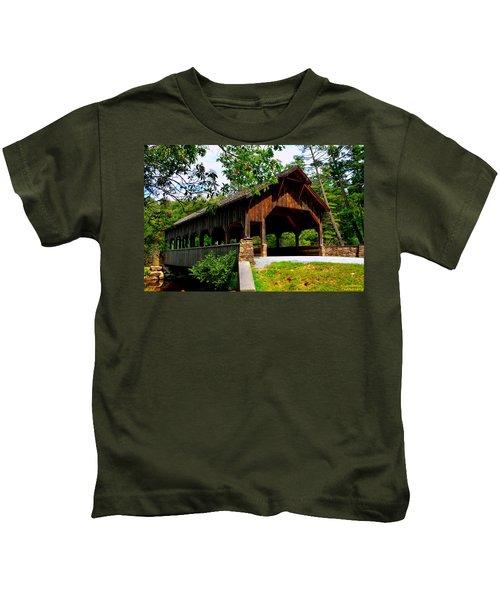 High Falls Covered Bridge Kids T-Shirt