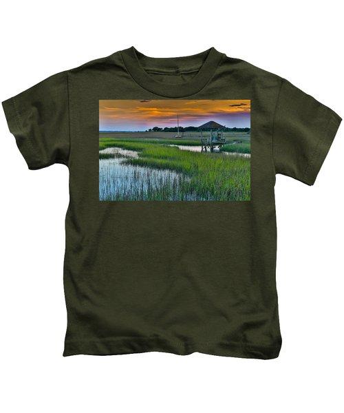 High Tide On The Creek - Mt. Pleasant Sc Kids T-Shirt