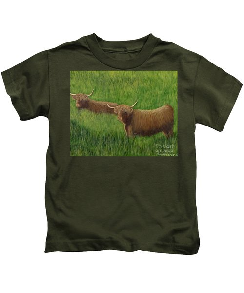 Highland Cows Kids T-Shirt