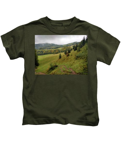 Highlands Landscape In Pieniny Kids T-Shirt