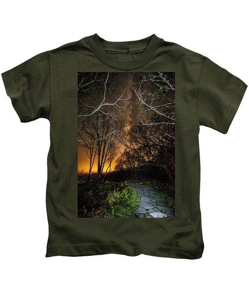 Hiking The Milky Way Kids T-Shirt