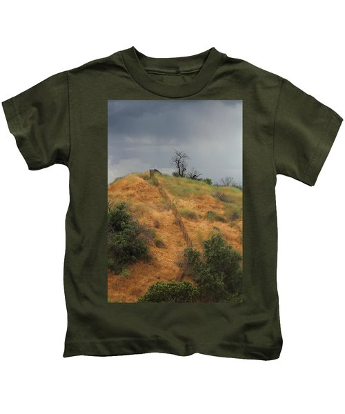 Hill Divided By Fence Kids T-Shirt