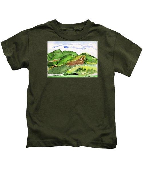 Hillside And Clouds Kids T-Shirt