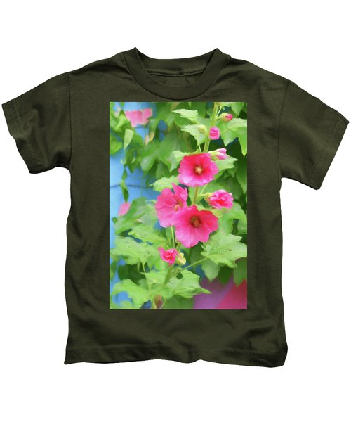 Hollyhocks - 1 Kids T-Shirt