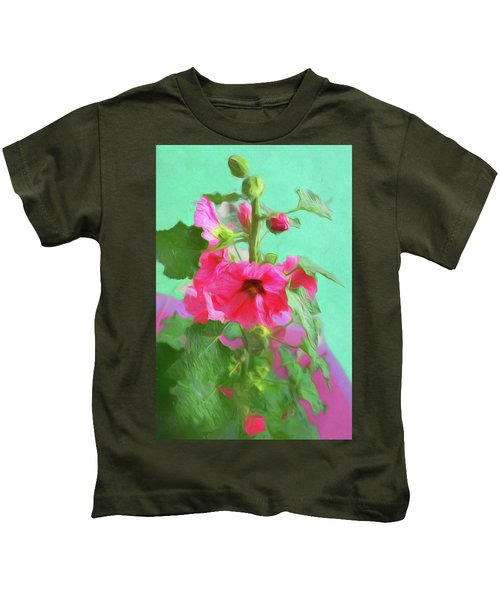 Hollyhocks - 2  Kids T-Shirt