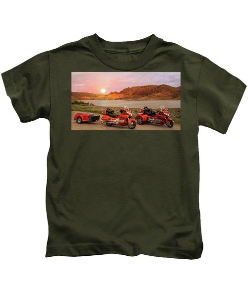 Honda Goldwing Bike Trike And Trailer Kids T-Shirt