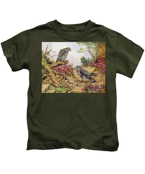 Honey Buzzards Kids T-Shirt by Carl Donner