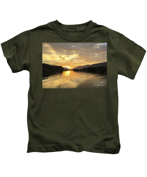 Hood River Golden Sunset Kids T-Shirt