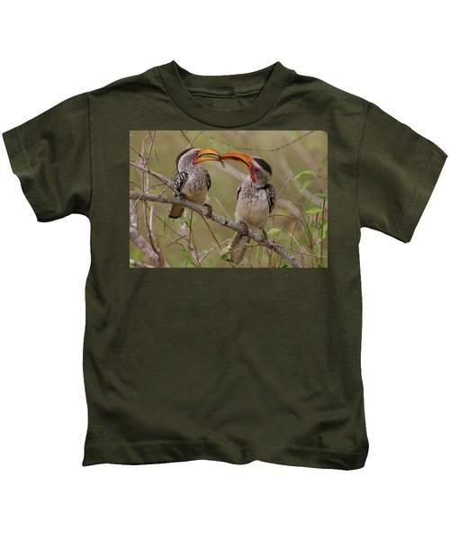 Hornbill Love Kids T-Shirt by Bruce J Robinson
