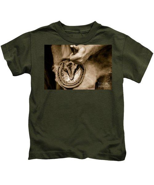 Horsehoe Fitting Kids T-Shirt