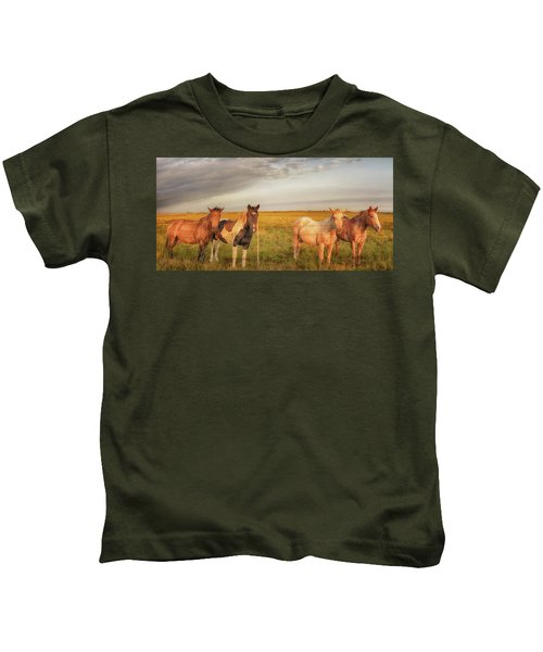 Horses At Kalae Kids T-Shirt