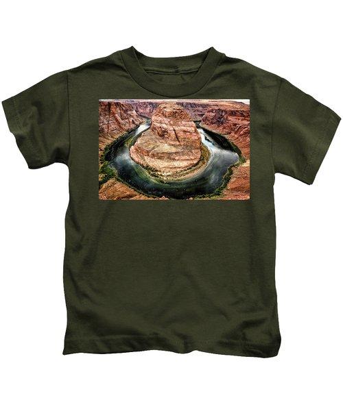 Kids T-Shirt featuring the photograph Horseshoe Bend Colorado River by Gigi Ebert