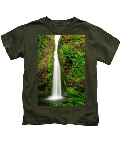 Horsetail Falls, Columbia River Gorge Kids T-Shirt