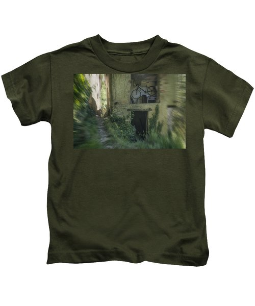 House With Bycicle Kids T-Shirt