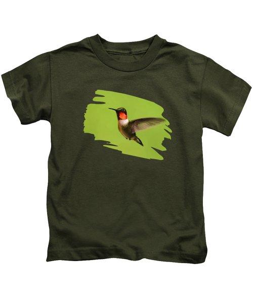 Hummingbird Defender Kids T-Shirt by Christina Rollo