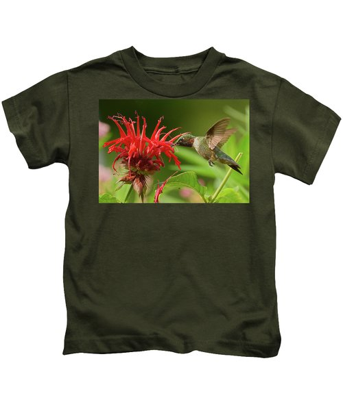 Kids T-Shirt featuring the photograph Hummingbird Delight by William Jobes