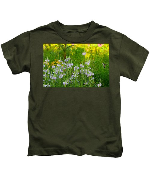 Kids T-Shirt featuring the photograph Hummingbird Heaven by William Jobes