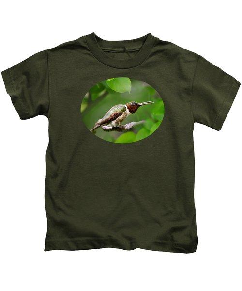 Hummingbird Hiding In Tree Kids T-Shirt