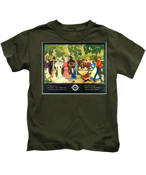 I Love The Park - London Underground, London Metro, Suburban - Retro Travel Poster Kids T-Shirt