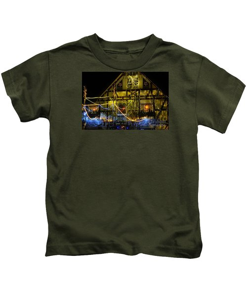Illuminated Christmas-house Kids T-Shirt