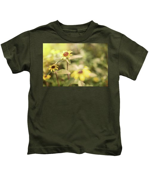 Illuminated Zinnia Kids T-Shirt by AugenWerk Susann Serfezi